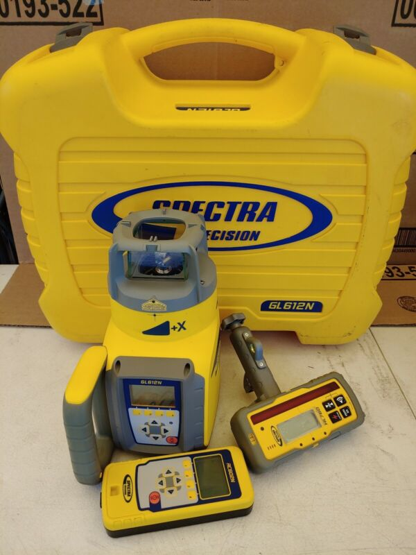 Spectra Precision GL612N Rotary Grade Laser Level W/ Remote Control, Receiver