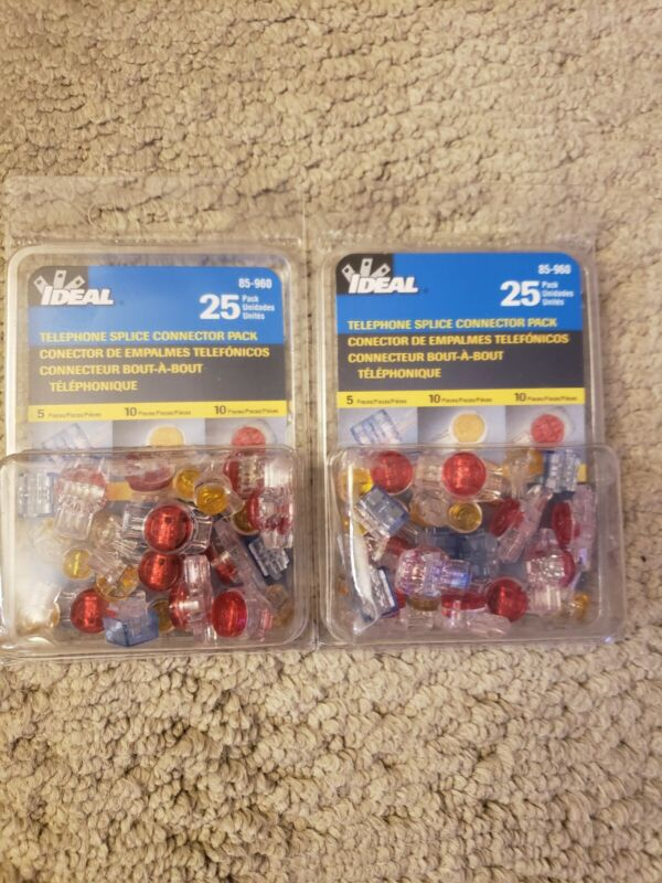 Ideal 85-960 IDC Combo Pack UR/UY/UB Jellybean Connectors - 25/Pack