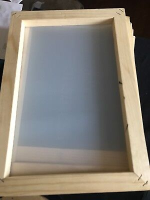 Silk Screen Frames 12x8 Inside 10x6 With Premium 180 Mesh