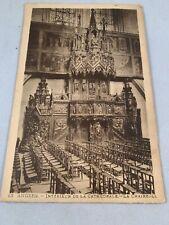 Vintage Angers France Postcard Carte Postale CPA Cathedrale La Chaire   eBay
