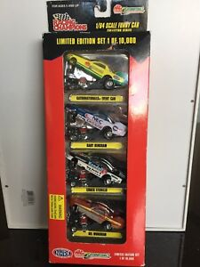 Die cast Racing Champions Funny Cars 1/64 set