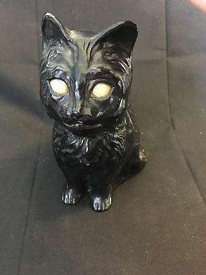 Halloween Black Cat Plastic Coin Piggy Bank Glow In The Dark Eyes Mouth Opens](Halloween Piggy Bank)