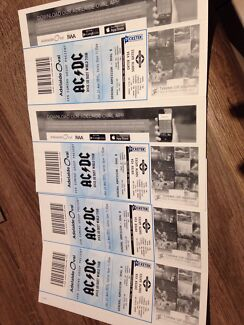 4x ACDC tickets for sale Leanyer Darwin City Preview