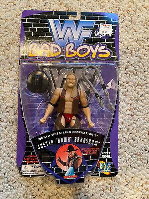 WWF Bad Boys Series 4 Jakks Justin Hawk Bradshaw Figure - JBL WWE