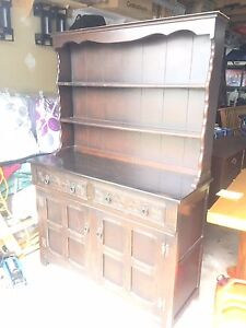 ANTIQUE STYLE CABINET DISPLAY BUFFET AND HUTCH ENGLISH