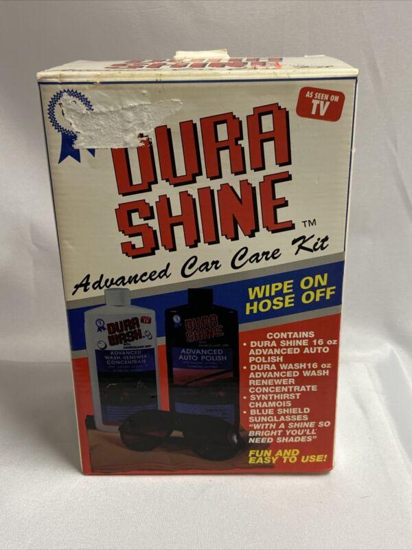 Advanced Dura Shine Auto Polish Car Kit Dura Wash Renewer Concentrate NOS 1997