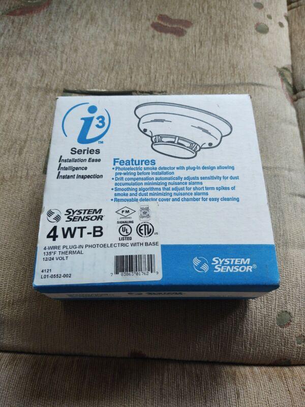 System Sensor 4WTAB Smoke Detector 12/24v w/ heat detector 4WTA-B fire alarm NIB