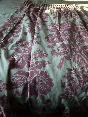 A Pair of Laura Ashley Home Tatton Cerise Curtains Drapes