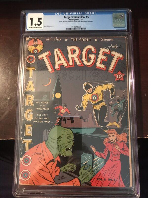 July, 1941 - Target Comics #V2 #5 - CGC Grade 1.5 (Golden Age)