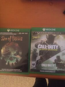 Met and infinite warfare xbox one and sea of thiefs