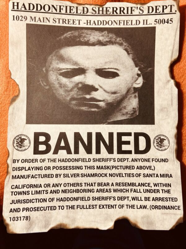 Michael Myers 1978 Halloween Mask Banned Newsprint