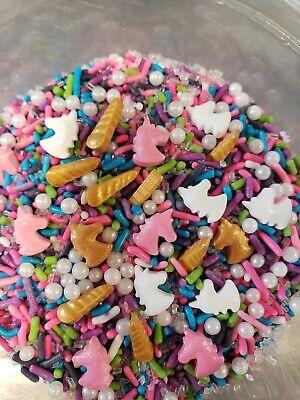 Unicorn Mix Sprinkles Sugar purple pink blueJimmies Cupcake Decoration 4 oz.bag](Purple Sprinkles)