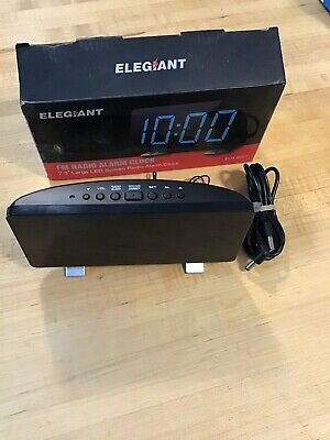 Large Display Digital Alarm Clock ELEGIANT Alarm Clock FM Radio Dual Alarm