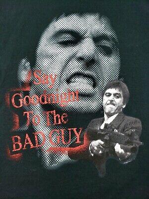 Vintage Scarface Clothing Co. Tony Montana Say Goodnight To The Bad Guy Shirt L
