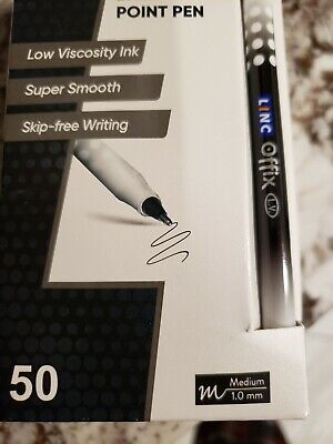 Linc Offix Smooth Ball Point Pen1.00mm Tip 50-count 1black Left