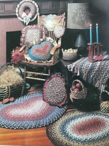 Vtg Country Collectibles Braid Craft Rugs Baskets Shirley Botsford 20 Pages
