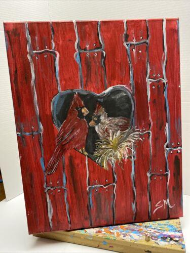 Original Acrylic Painting 16x20. Canvas. Signed. - $50.00