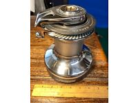 SINGLE(ONE ONLY) HARKEN 40 2 SPEED SELF TAILING CHROMED BRONZE WINCH VERY CLEAN!