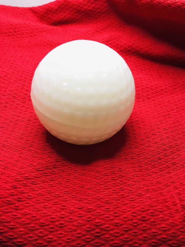 Vintage Anchor Hocking Milk Glass Golf Ball Covered Dish Made In USA