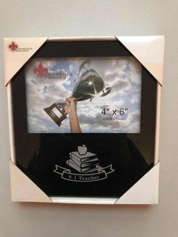 """NEW #1 Teacher Picture Frame Holds 4"""" X 6"""" Photo Great Appreciation Gift"""
