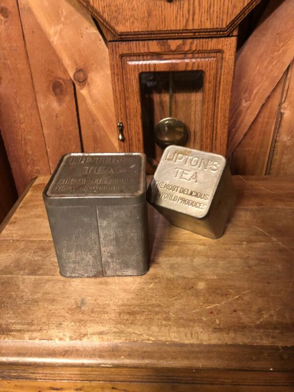 2 Antique Vintage Old Lipton
