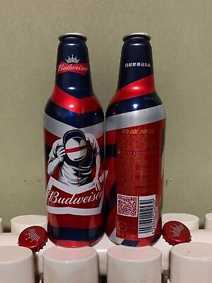 "2018 China Budweiser Beer ""DJ Music"" 355ml Empty Aluminum Bottle"