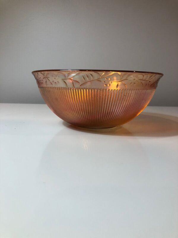 Carnival Glass Daisy Chain Pattern Bowl