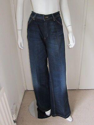 WRANGLER LADIES REGAL BLUE BELLA COTTON TRAPEZE LEG JEANS W:31 L:34 BRAND NEW Bella Cotton Jeans