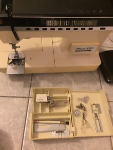 Vintage singer Athena2000 sewing machine with walking foot.