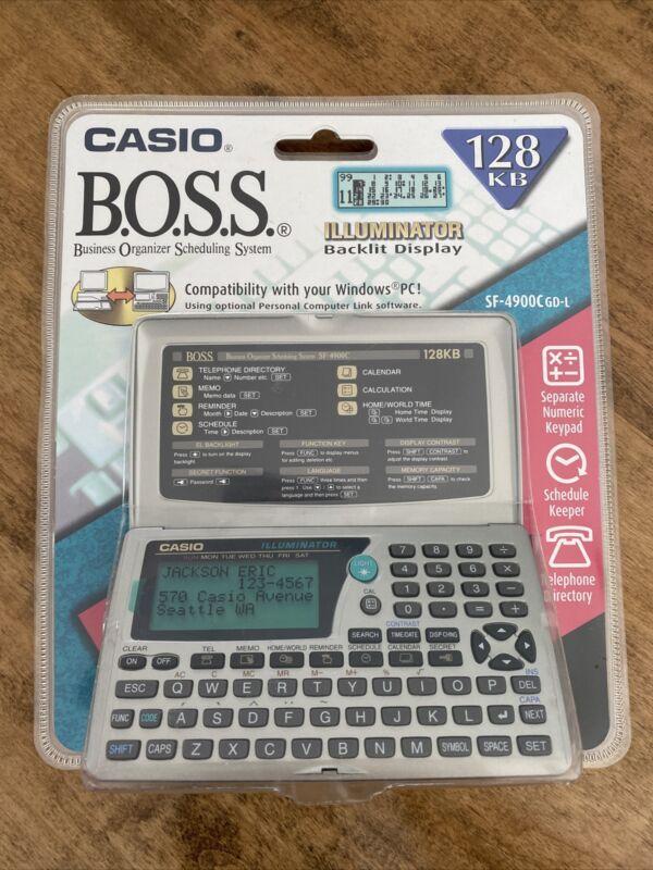 Vintage Casio Digital Diary BOSS SF-4900C ORGANIZER NOS Electronic Gadget 128KB