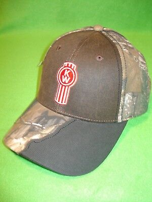 KENWORTH HAT:      FRAYED CAMO BILL TRUCKERS CAP    *FREE SHIPPING *