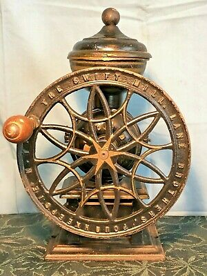 1875 No.12 Antique Swift Mill Coffee Grinder, Lane Brothers, Poughkeepsie, Ny