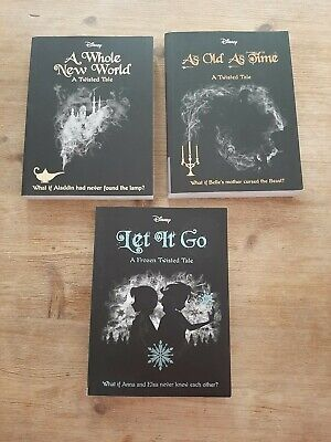 Disney twisted tales collection. 3 book set of alternative Disney stories