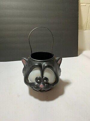 EMPIRE Halloween Black Cat Blow Mold Pumpkin Trick or Treat Candy Bucket PAIL