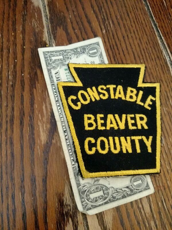 Beaver County Pennsylvania Constable Patch New Old Stock