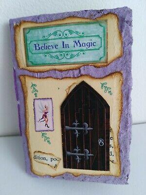 Believe In Magic Journal - Handmade Fairy Notebook - Junk Journal Mini Book Magic Fairy Journal
