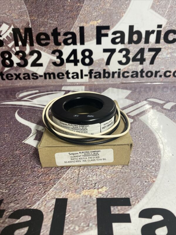 Simpson Electric Company Current Transformer Ratio 400:5 A P/N 01305.