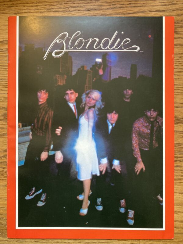 BLONDIE 1979 PARALLEL LINES TOUR CONCERT PROGRAM BOOK DEBORAH HARRY