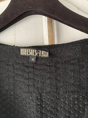 Vintage BIBA Jumper Size 10 Black