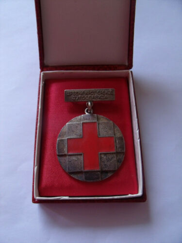 Red cross Serbia silver medal Yugoslavia