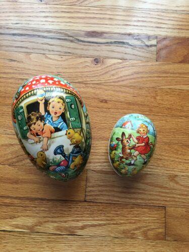 Vintage German Papier-Mache Eggs Paper Mache - Easter Children Chicks