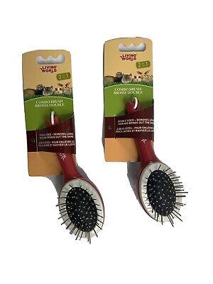 Living World Small Animal Combo Brush, by Living World (2 pack)