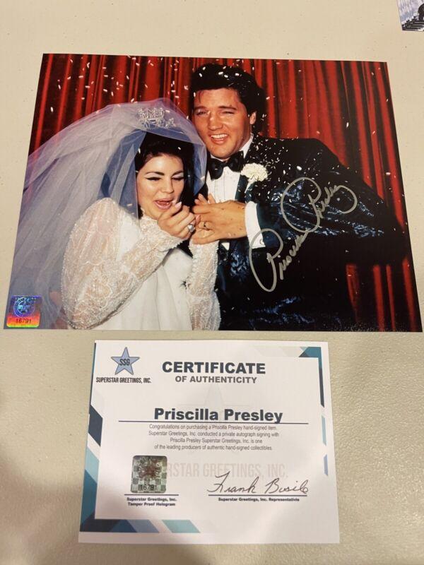 Autographed Priscilla Presley Signed 8x10 Photo Elvis Presley Ssg Coa King