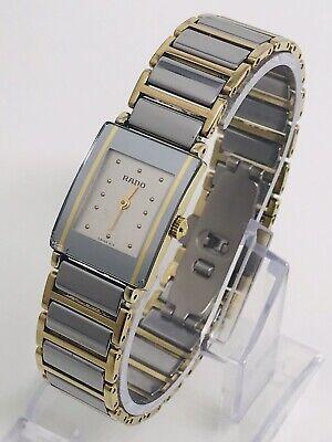Rado Diastar 1530383.3 Swiss Quartz Two Tone Titanium Ladies Watch - READ