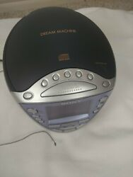 Sony ICF-CD853V Dream Machine CD player Clock Radio with Digital Tuner alarm