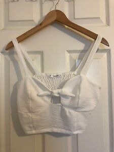 Mango - Front Knot Crop Top