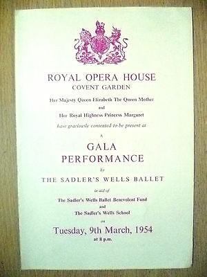 ROYAL OPERA HOUSE COVENT GARDEN BALLET PROGRAMME 1954- GALA PERFORMANCE