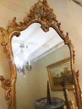 A FABULOUS ANTIQUE FRENCH - CARVED GILT WOOD MIRROR Botany Botany Bay Area Preview