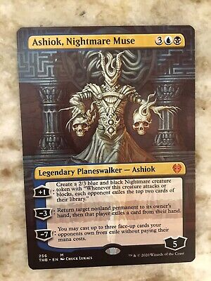 1x Ashiok, Nightmare Muse | Borderless | Theros Beyond Death | MTG Magic | NM-M