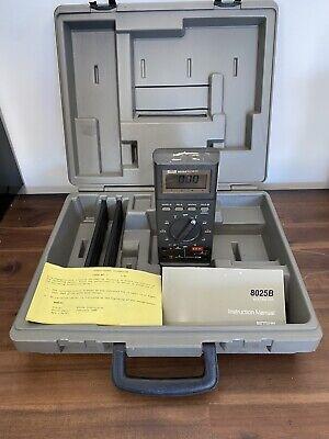 Fluke 8025b Digital Multimeter With Hard Case
